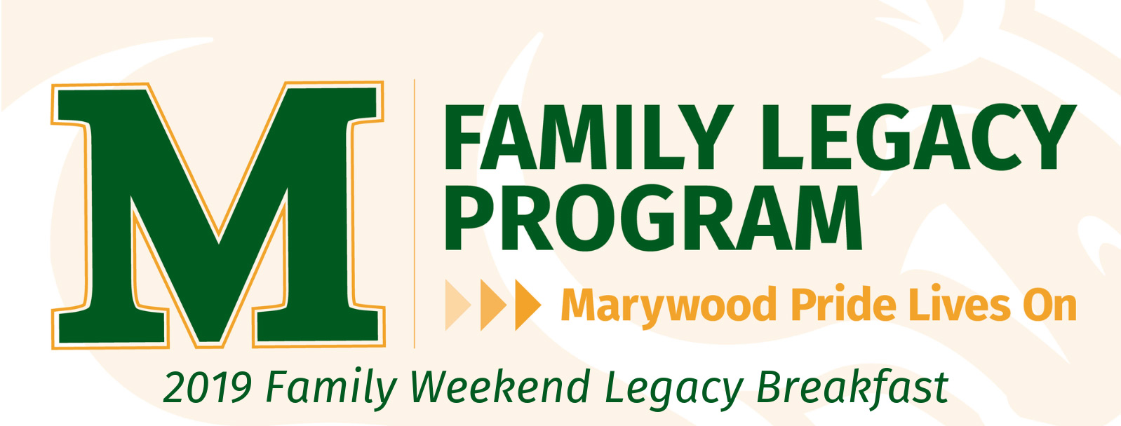 Marywood Legacy Family Breakfast 2019 - September 21st, 10-11:30 a.m.
