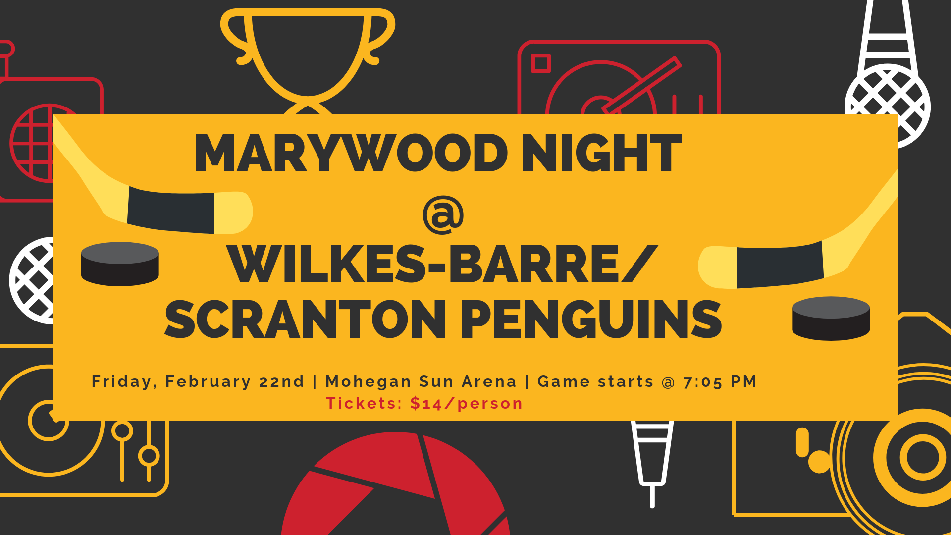 Marywood Night at WBS Penguins - Friday, February 22nd (Game starts at 7:05 p.m.)